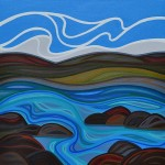 """Playing in the Waves"" 24 X 24 in."
